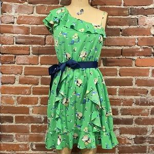 Green floral dress size 11